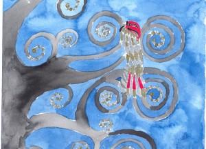 Uma árvore dos mortos, releitura das árvores da vida de Klimt